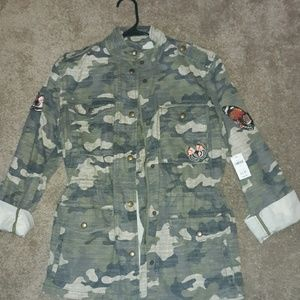 New Gap Camouflage Jacket with Butterfly Detail